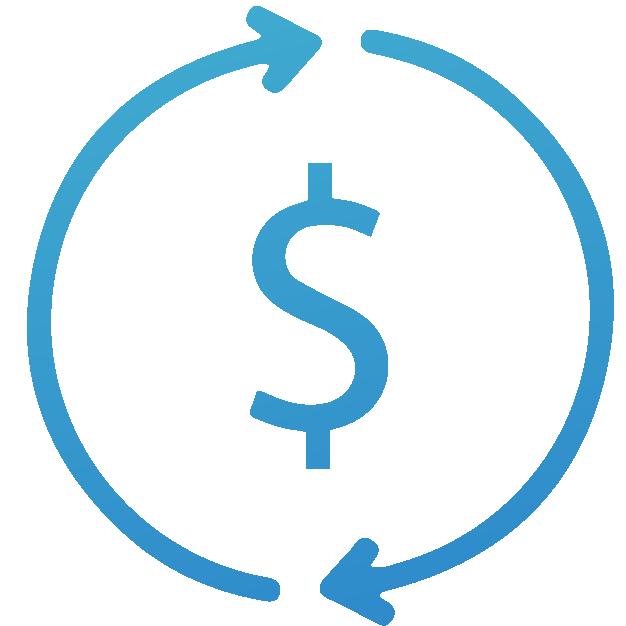 icono dolares transacciones realizadas securex