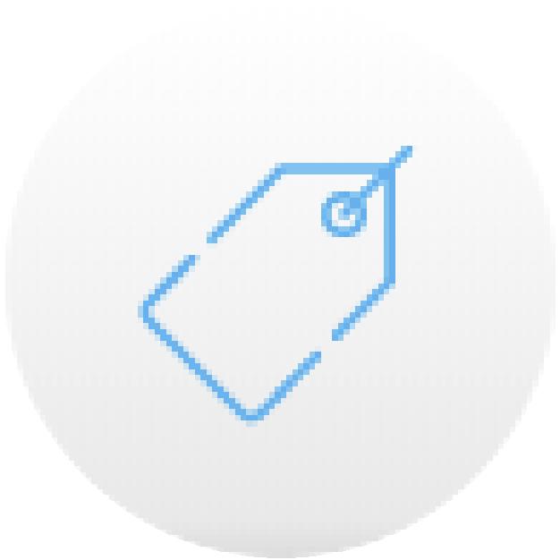 icono etiqueta azul precio securex