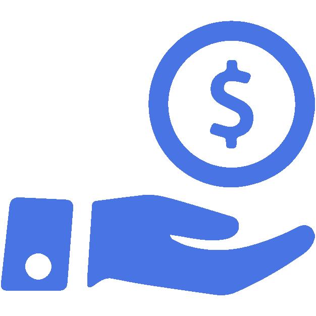 icono recibe azul proceso securex